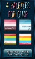 GIMP Palettes no.01-04 by el-L-eN