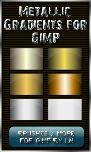 6 Metallic Gradients for GIMP by el-L-eN