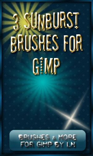 3 Sunburst Brushes for GIMP by el-L-eN