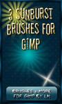 3 Sunburst Brushes for GIMP
