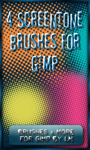4 Screentone Brushes for GIMP by el-L-eN