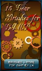 15 GIMP Steampunk Gear Brushes by el-L-eN
