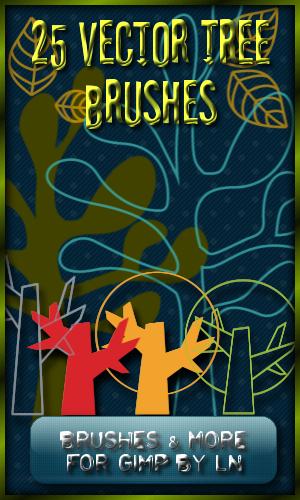 25 XL + M GIMP Tree Brushes by el-L-eN