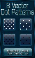 8 GIMP Vector Dot Patterns XL