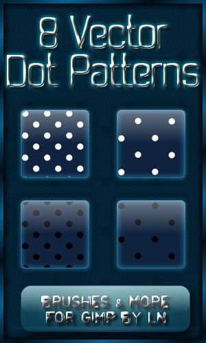 8 GIMP Vector Dot Patterns XL by el-L-eN