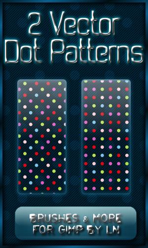 2 GIMP Dot Vector Patterns by el-L-eN