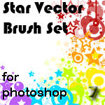 Star Vector Brush Set PS7 by rogueXunited