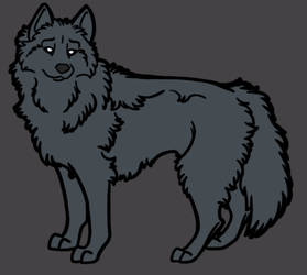 Lineart Wolf Reference Photoshop PSD Template