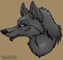 Free Wolf Avatar Head PSD Template