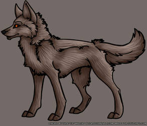Free Wolf Hybrid Lineart PSD Template