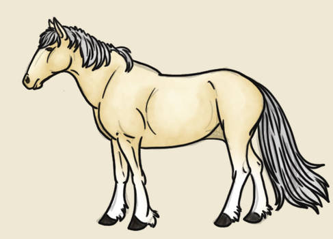 Free Sketchy Horse Photoshop PSD Lineart Template