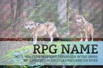 Roleplay Advertisemet PSD Template for Wolf RPGs