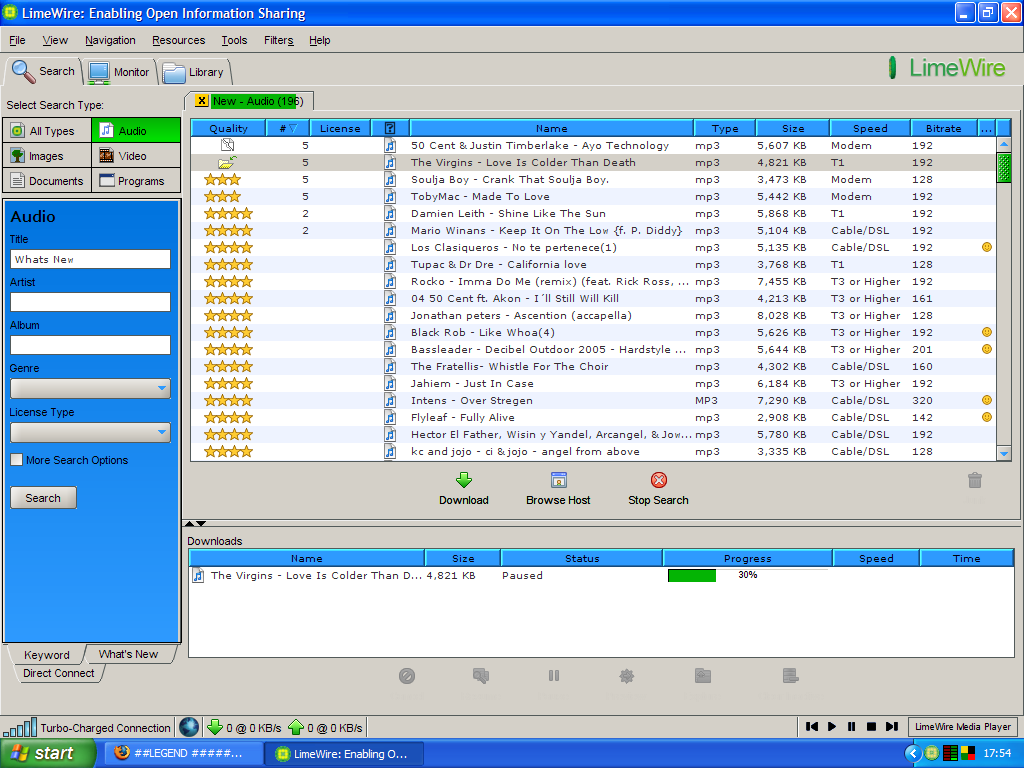 Limewire Music Windows 10