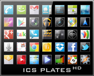 Android Icons   ICS Plates HD by lostintortola