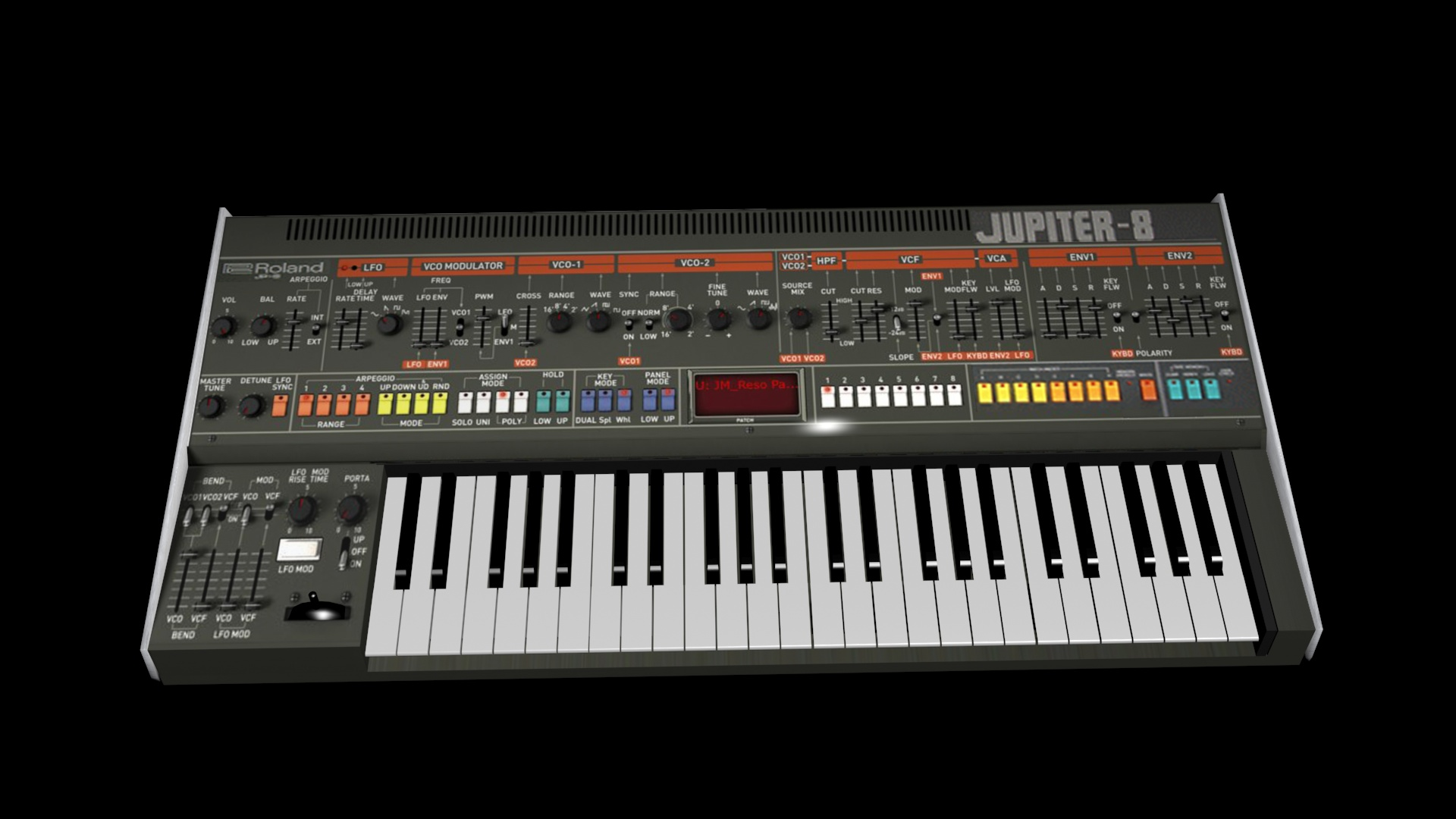 Roland Jupiter-8 low detail model. by staiff