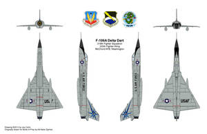 Convair F106A 318th FIS, 325th Fighter Wing