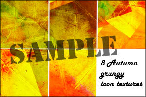Grungy Autumn textures by minnie-brushes