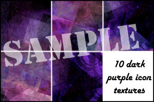 Dark Purple Icon Textures by minnie-brushes