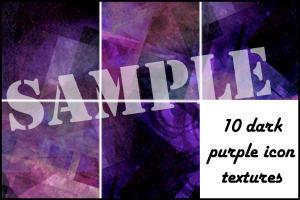 Dark Purple Icon Textures by minnie-brushes