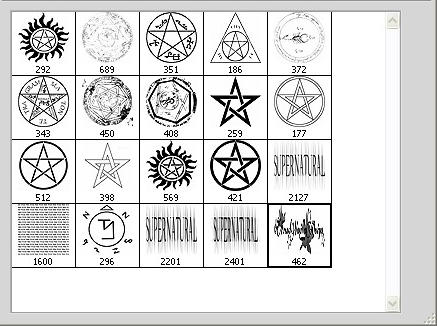 Brushset SPN Symbols by the-impalas-backseat