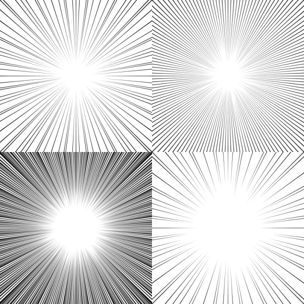 Drawing Lines With Gimp : Screentones action lines by asifalittlezonked on deviantart