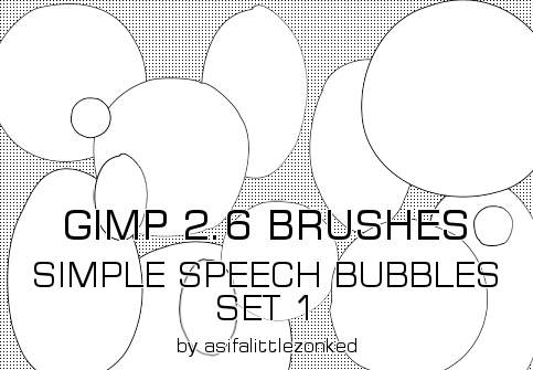 speech bubbles GIMP brushes 3 by asifalittlezonked