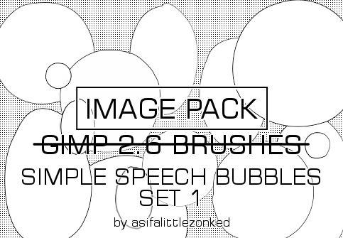 speech bubbles 3 image pack