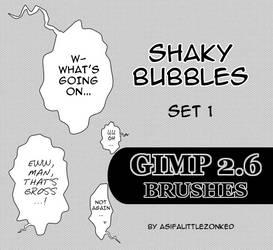 shaky bubbles GIMP brushes