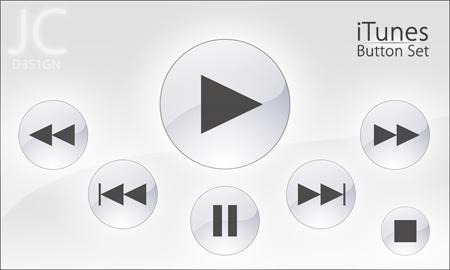 iTunes Button Set by jaytheasianman