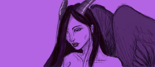 Angel sketch by RogueSareth