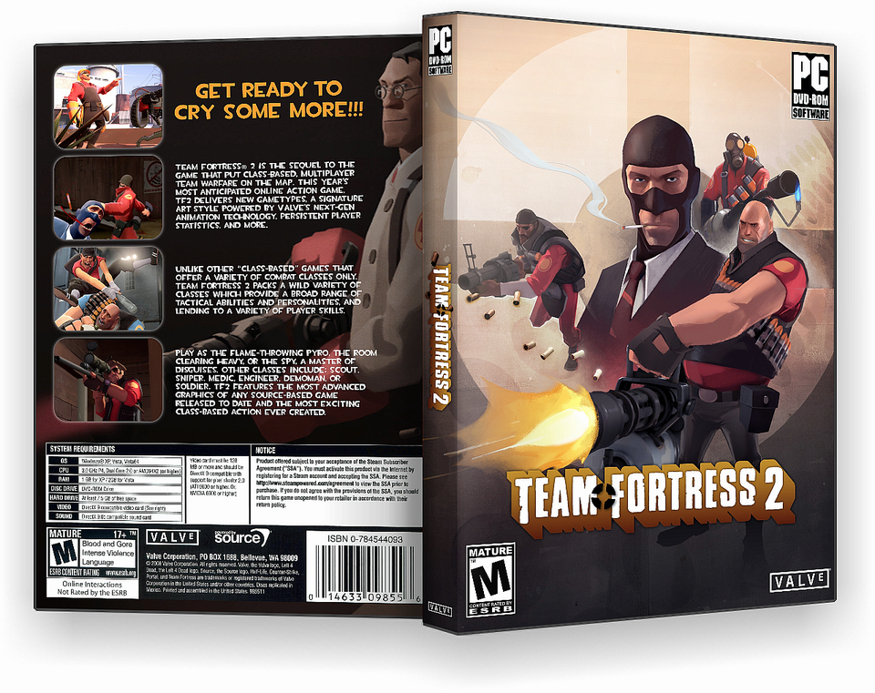 Team Fortress 2: DS Edition Nintendo DS Box Art Cover by dandoo