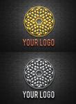 Chrome and Brushed Metal Logo Mock-Up