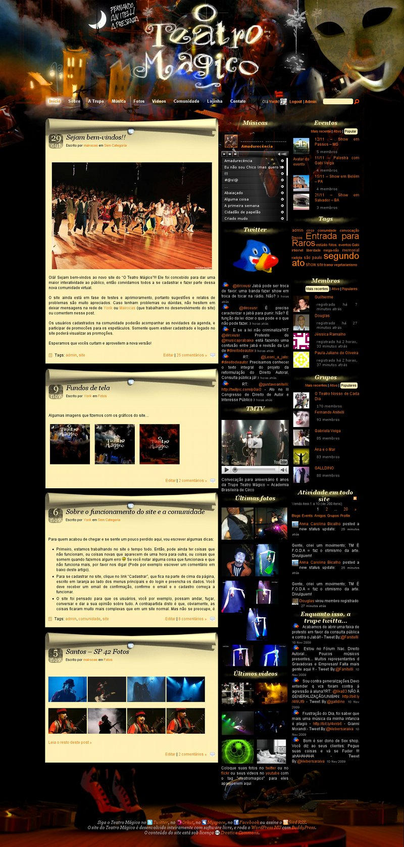 Teatro Magico BuddyPress theme by yorikvanhavre