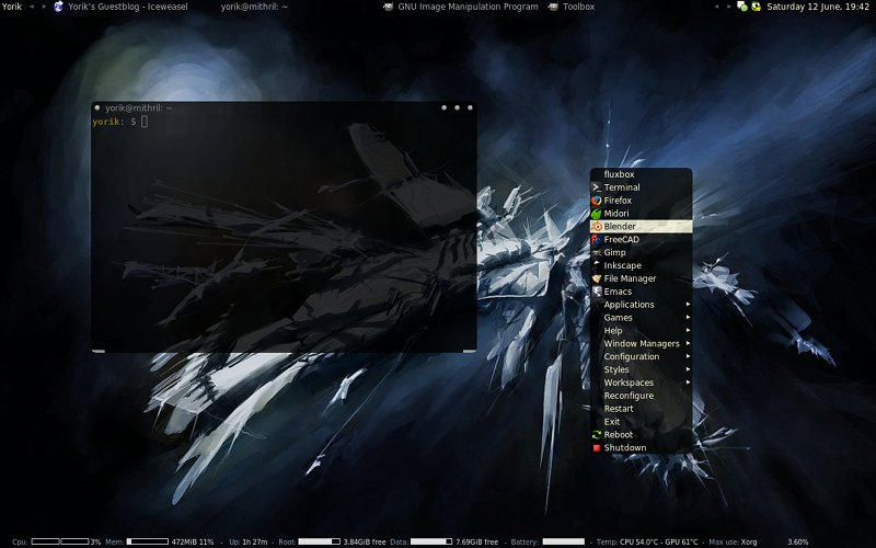 Space98 fluxbox theme by yorikvanhavre
