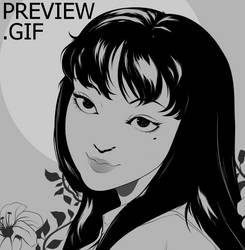 P : What a beautiful girl... - GIF by gloomyguts