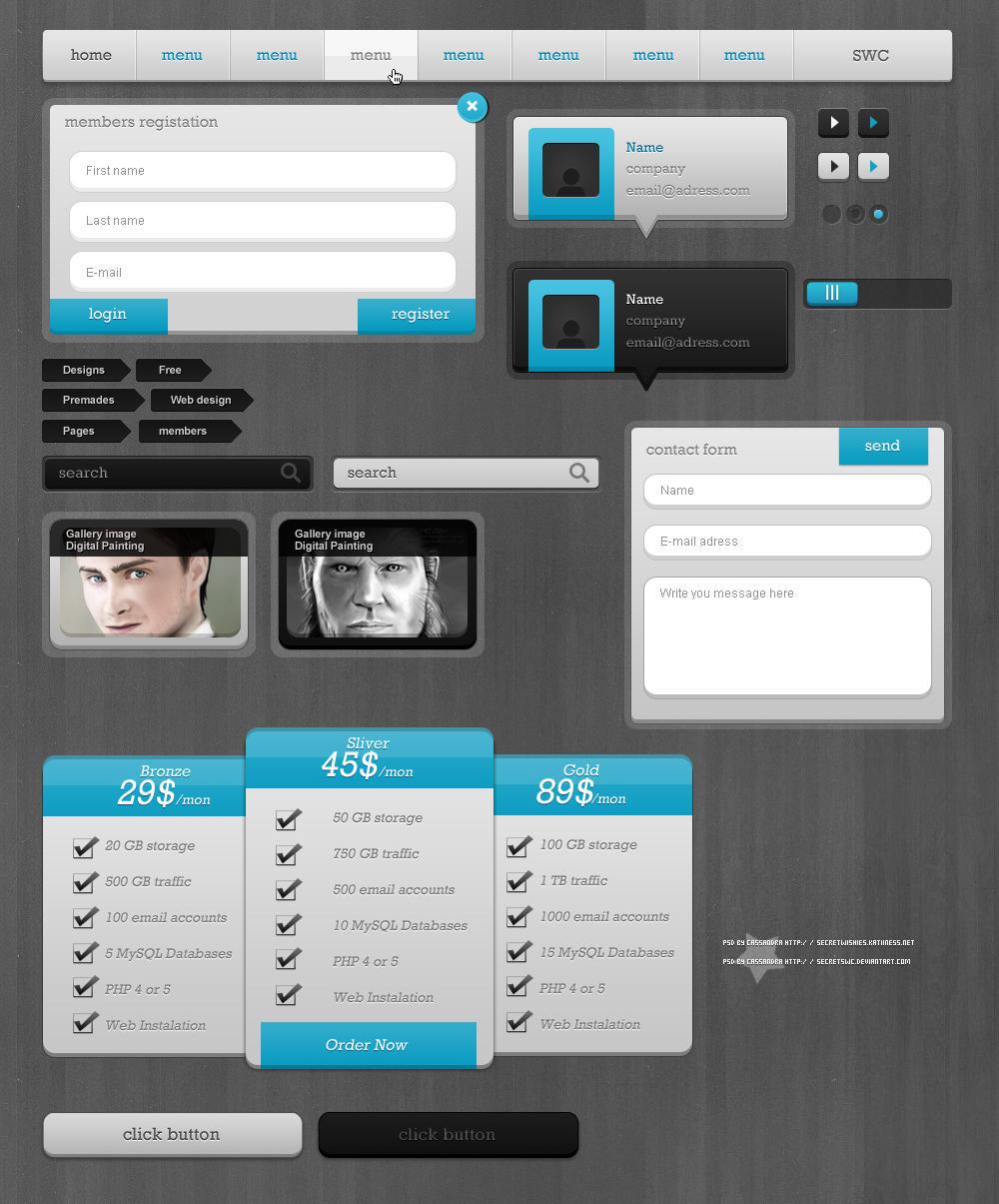 Blue PSD Package by secretSWC