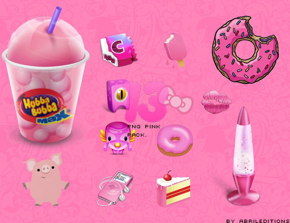 PNG pink pack by Abrileditions