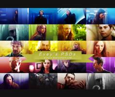 #7 PSD Pack - TV tropes by Evey-V