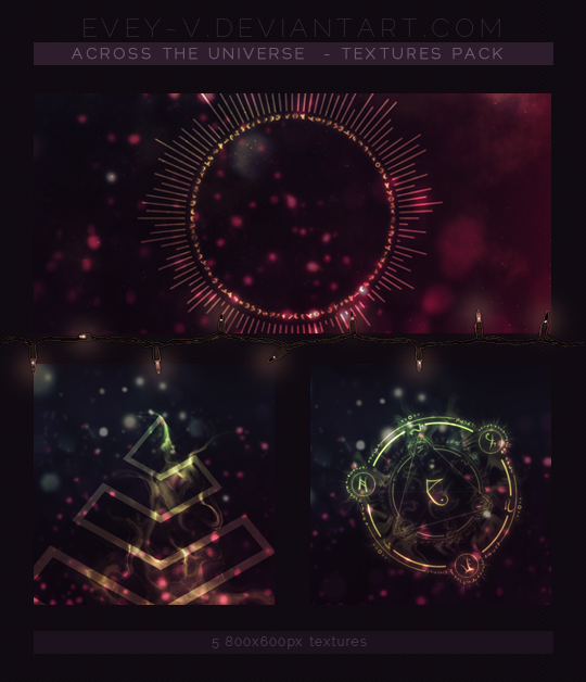 #46 Textures Pack - Across the Universe by Evey-V