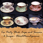 Tea Party Stock: Cups and Saucers