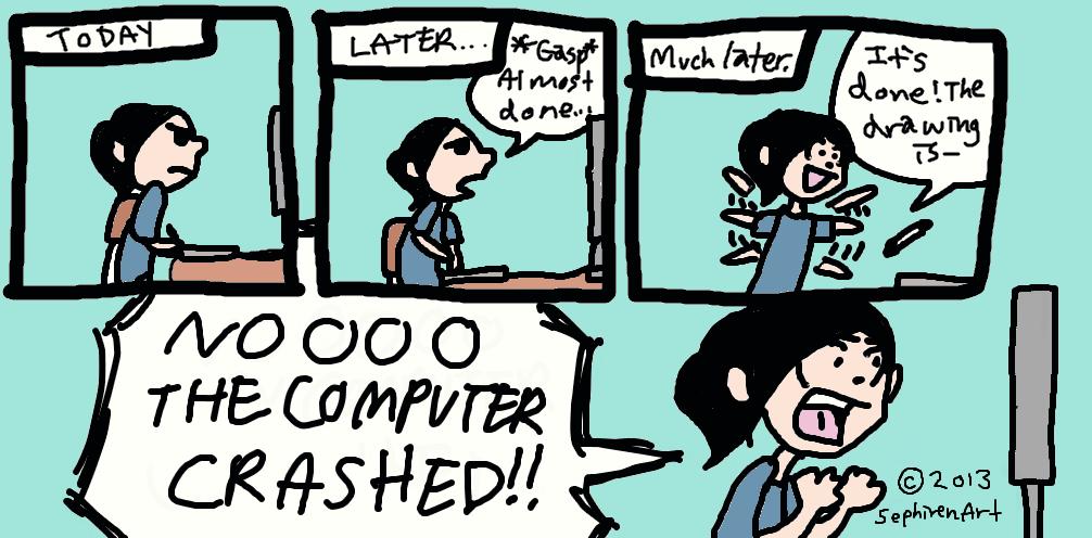 Computer Crash Comic by SephirenArt