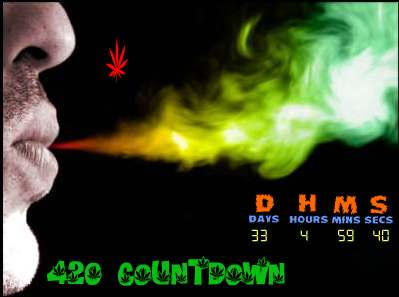 420 Marijuana Countdown Widget by qfunk99