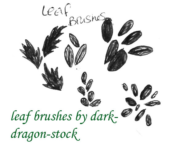 leaf brushes by dark-dragon-stock