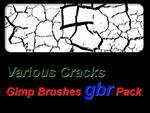 Various Cracks - Gimp Brushes Pack by thobar
