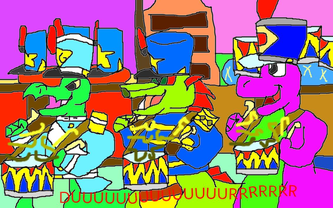 General Galapagos, Dino-Rang and Barney 5 ^^ by conlimic000
