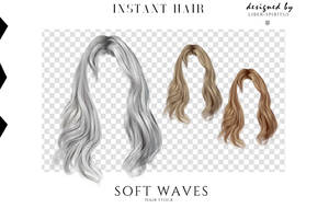 Unrestricted Soft Waves Hair Stock