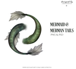 Unrestricted Mermaid and Merman Tails by liber-spiritus