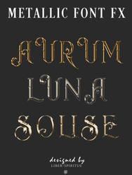 Metallic Font Styles