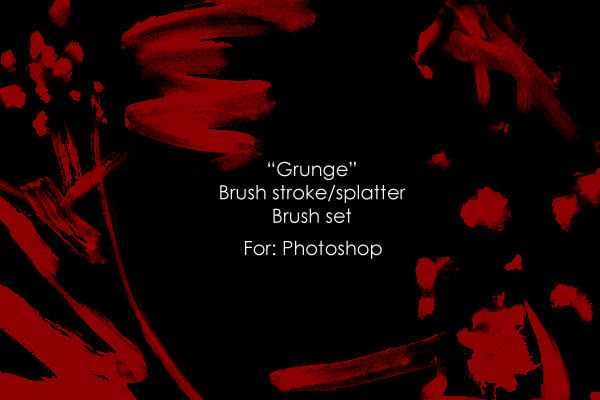 'Grunge strokes' brush set by Jun-Sasaki