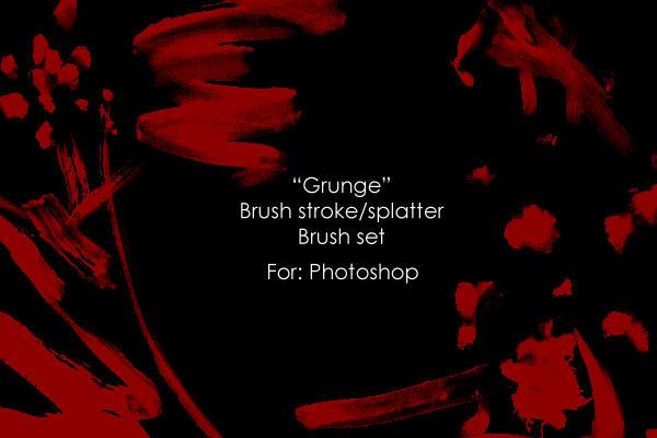"""""""Grunge strokes"""" brush set by Jun-Sasaki"""